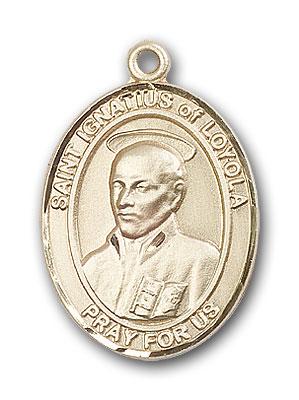 14K Gold St. Ignatius of Loyola Pendant