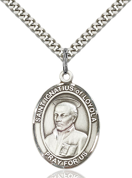 Sterling Silver St. Ignatius of Loyola Pendant