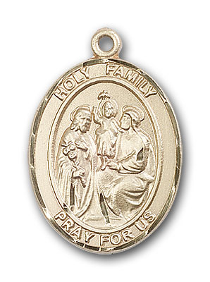 14K Gold Holy Family Pendant