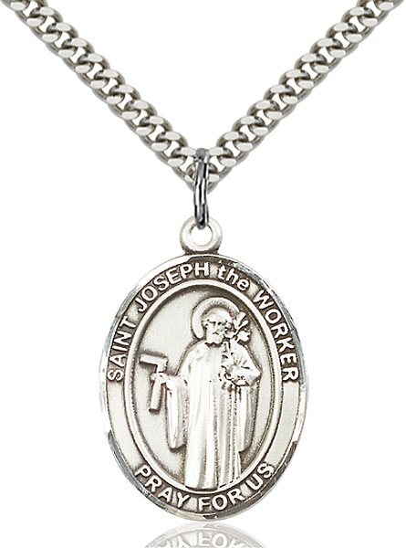 Sterling Silver St. Joseph The Worker Pendant