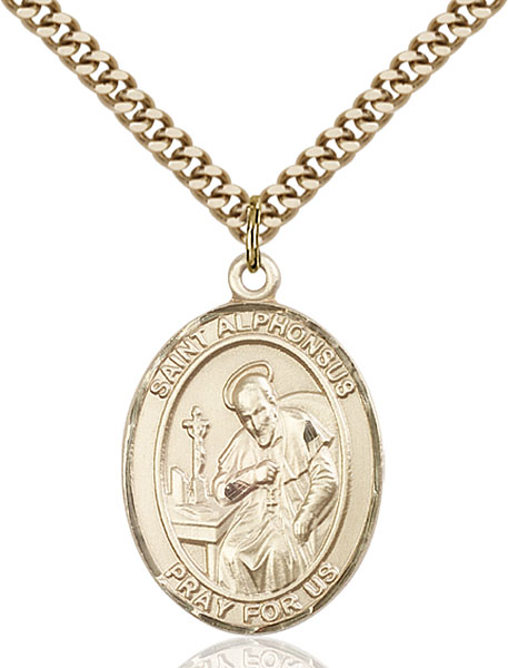 Gold-Filled St. Alphonsus Pendant