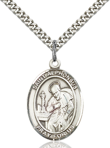 Sterling Silver St. Alphonsus Pendant