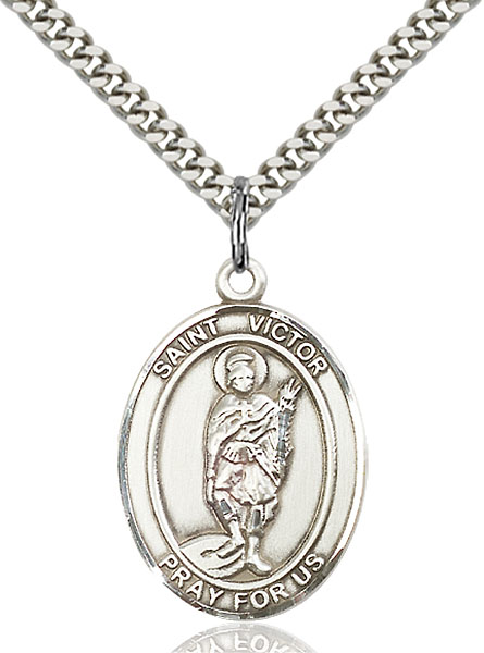 Sterling Silver St. Victor of Marseilles Pendant