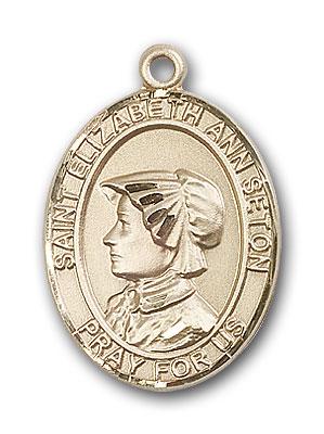 14K Gold St. Elizabeth Ann Seton Pendant