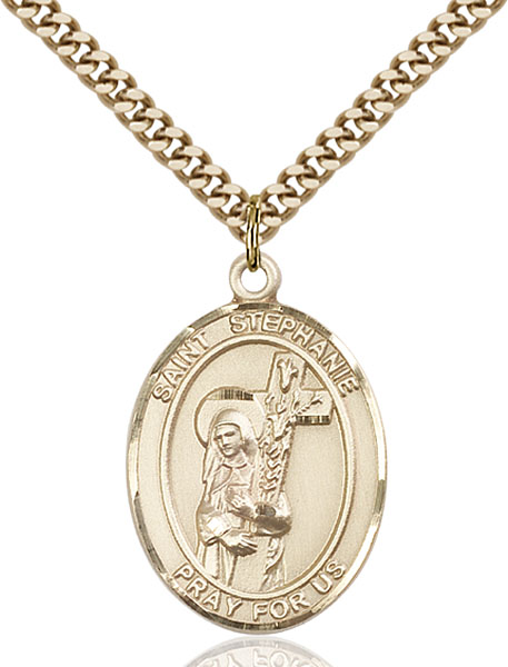 Gold-Filled St. Stephanie Pendant