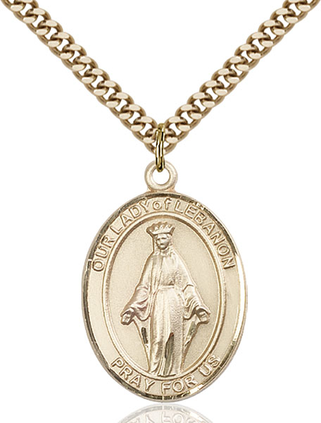 Gold-Filled Our Lady of Lebanon Pendant