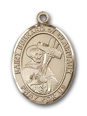 14K Gold St. Bernard of Clairvaux Pendant