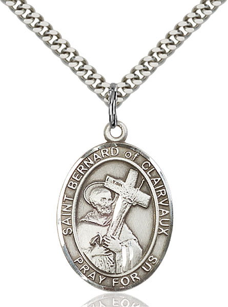 Sterling Silver St. Bernard of Clairvaux Pendant