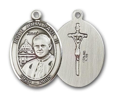Sterling Silver Pope John Paul II Pendant
