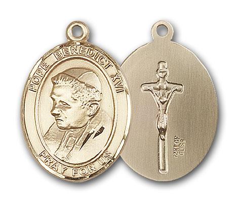 14K Gold Pope Benedict XVI Pendant