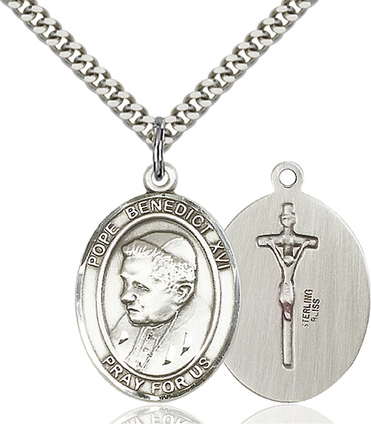 Sterling Silver Pope Benedict XVI Pendant