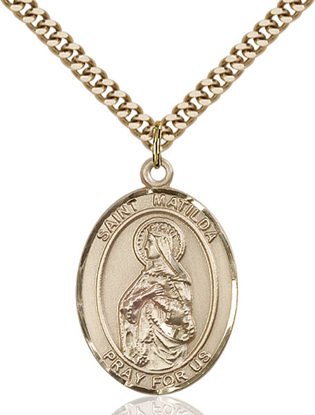 Gold-Filled St. Matilda Pendant
