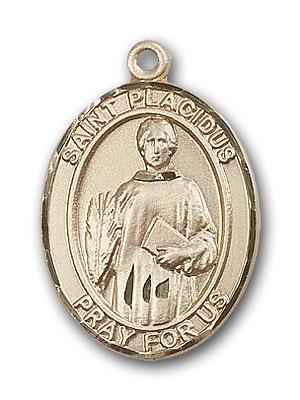 14K Gold St. Placidus Pendant