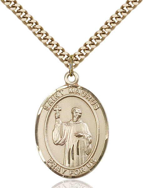 Gold-Filled St. Maurus Pendant
