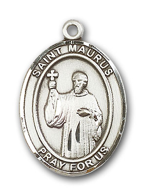 Sterling Silver St. Maurus Pendant