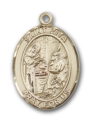 Gold-Filled St. Zita Pendant