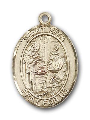 14K Gold St. Zita Pendant