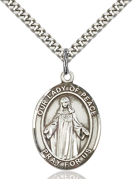 Sterling Silver Our Lady of Peace Pendant