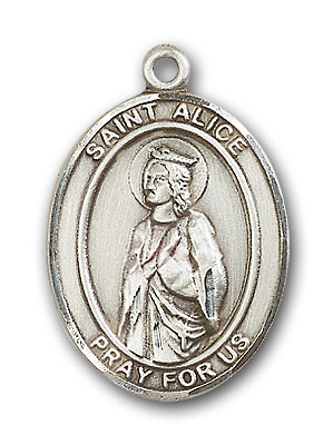 Sterling Silver St. Alice Pendant