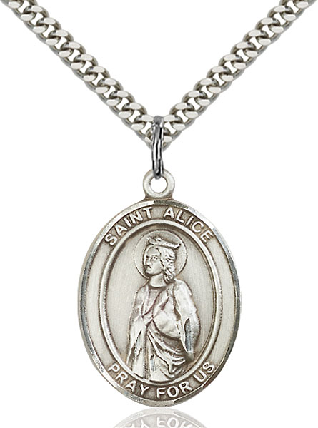 Sterling Silver St. Alice Pendant