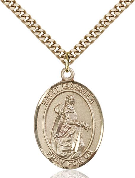Gold-Filled St. Isabella of Portugal Pendant