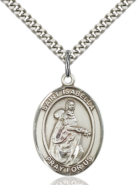 Sterling Silver St. Isabella of Portugal Pendant