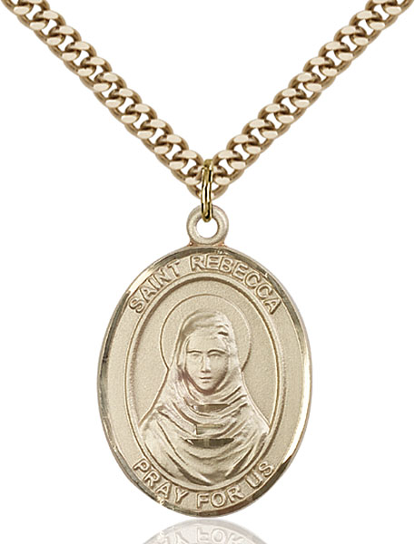 Gold-Filled St. Rebecca Pendant