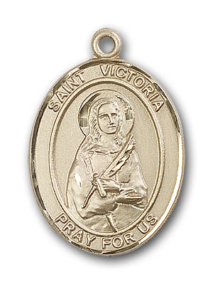 14K Gold St. Victoria Pendant