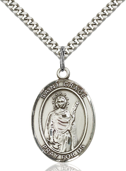 Sterling Silver St. Grace Pendant