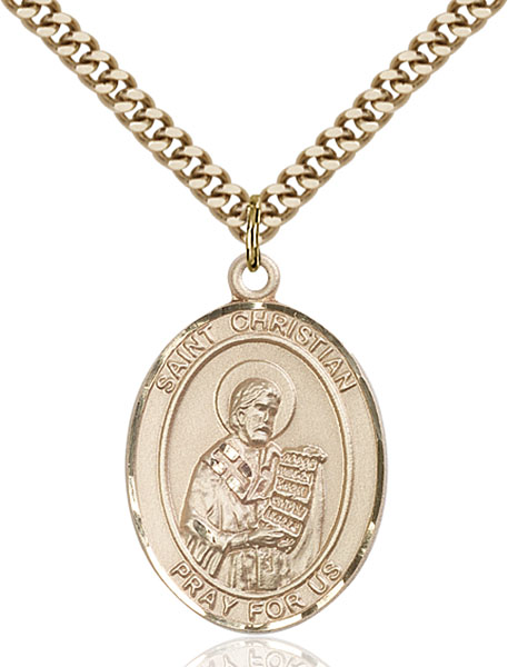 Gold-Filled St. Christian Demosthenes Pendant
