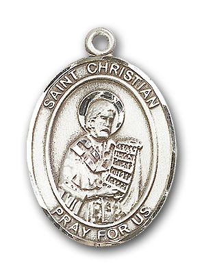 Sterling Silver St. Christian Demosthenes Pendant