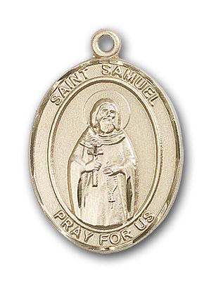 14K Gold St. Samuel Pendant
