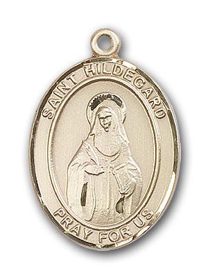 14K Gold St. Hildegard Von Bingen Pendant