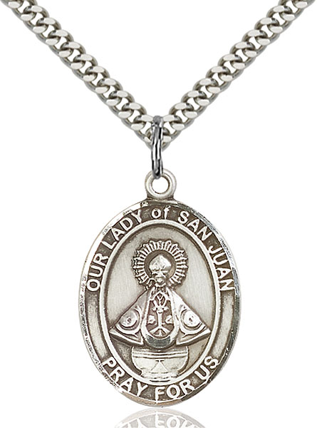 Sterling Silver Our Lady of San Juan Pendant