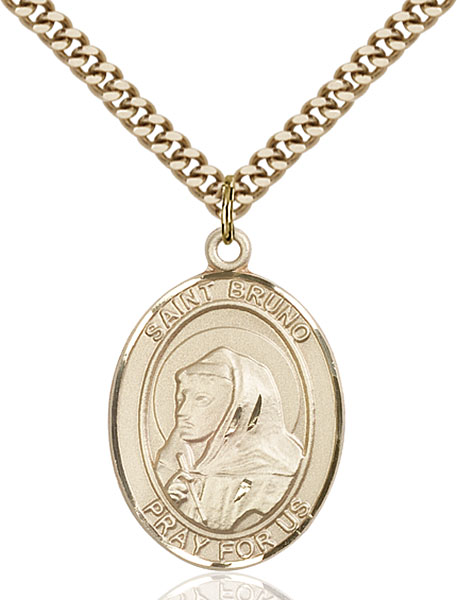 Gold-Filled St. Bruno Pendant