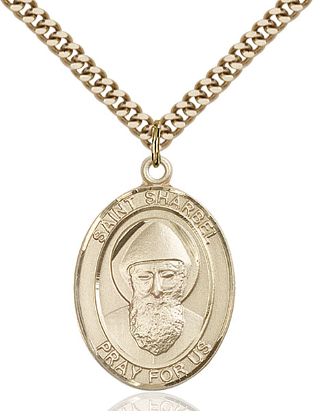Gold-Filled St. Sharbel Pendant