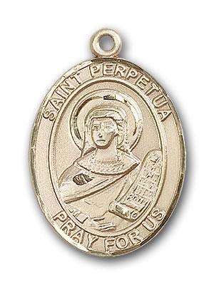 14K Gold St. Perpetua Pendant