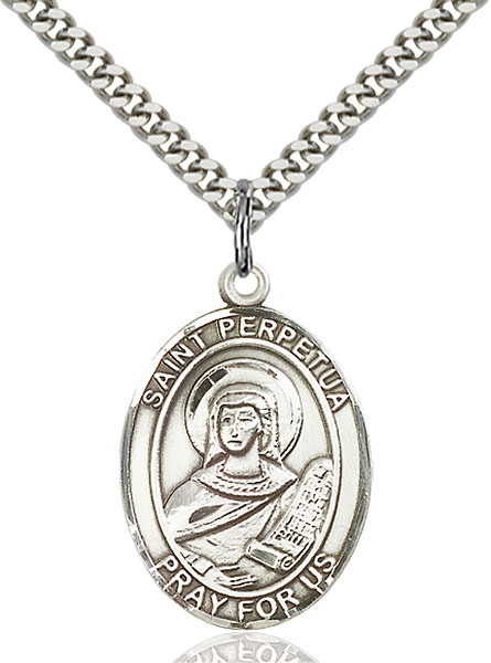 Sterling Silver St. Perpetua Pendant