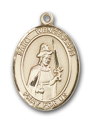 Gold-Filled St. Wenceslaus Pendant