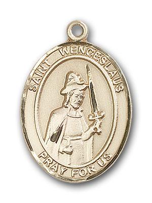 14K Gold St. Wenceslaus Pendant