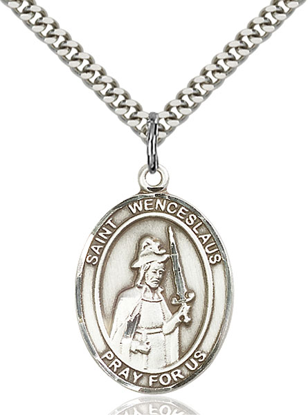 Sterling Silver St. Wenceslaus Pendant