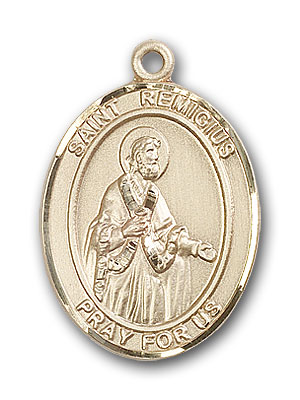 14K Gold St. Remigius of Reims Pendant
