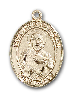 14K Gold St. James the Lesser Pendant