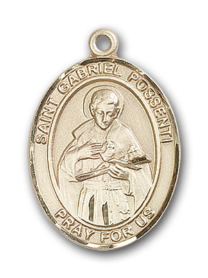 Gold-Filled St. Gabriel Possenti Pendant