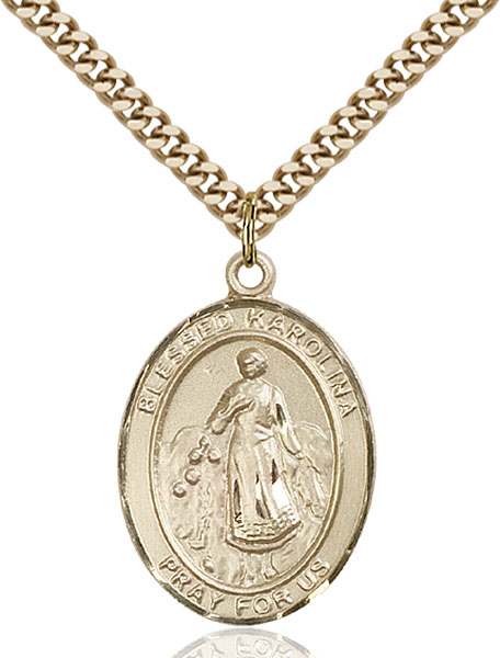 Gold-Filled Blessed Karolina Kozkowna Pendant