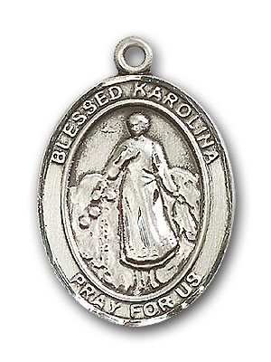 Sterling Silver Blessed Karolina Kozkowna Pendant