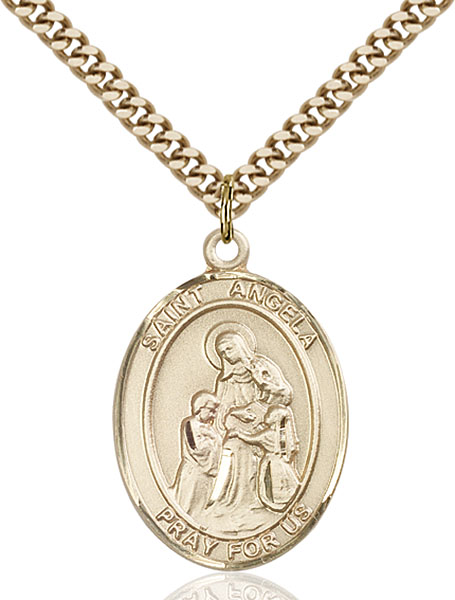 Gold-Filled St. Angela Merici Pendant
