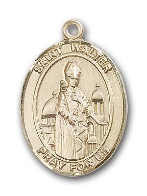14K Gold St. Walter of Pontnoise Pendant