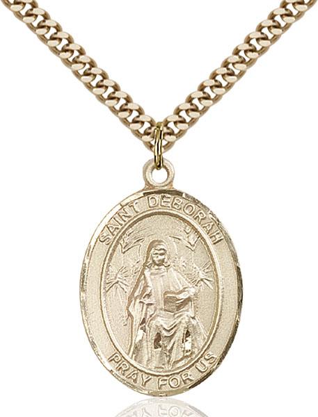 Gold-Filled St. Deborah Pendant