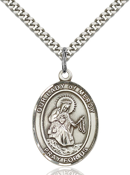 Sterling Silver Our Lady of Mercy Pendant